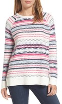 Caslon Women's Tie Back Patterned Sweater