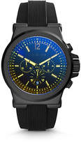 Michael Kors Dylan Black Silicone Watch