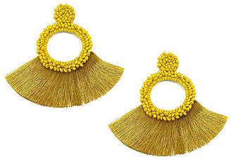 Bijoux Bar Beaded Fringe Drop Earrings
