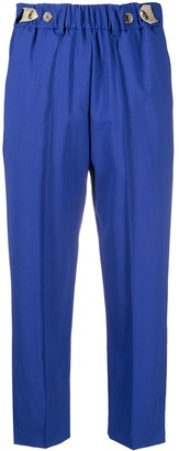 Alysi High-Waisted Cropped Trousers