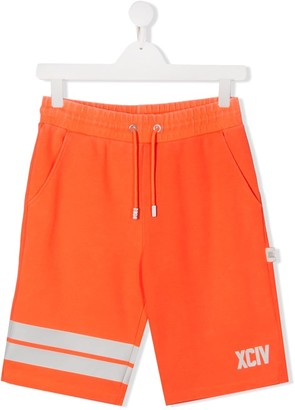 Gcds Kids TEEN logo track shorts