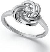 Wrapped in LoveTM Diamond Ring, 14k White Gold Diamond Knot Ring (1/10 ct. t.w.)