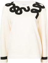 Derek Lam 10 Crosby Long Sleeve Sweatshirt with Embroidery