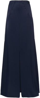 Les Héroïnes Satin-crepe Maxi Skirt