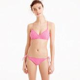 J.Crew Gingham cross-back French bikini top