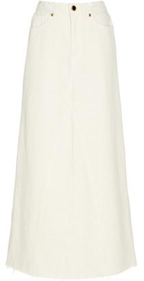 KHAITE Magdalena Denim Maxi Skirt