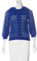 See by Chloe Cropped Open-Knit Cardigan