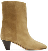 Isabel Marant Tan Suede Dyna Boots