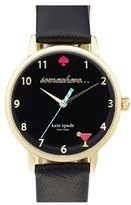 Kate Spade Women's 'Metro - Somewhere' Leather Strap Watch, 34Mm