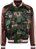 Valentino patch appliquéd bomber jacket - men - Cotton/Viscose - 46