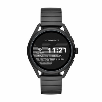 Emporio Armani Men's Smartwatch 3 Touchscreen Aluminum and Rubber Smartwatch