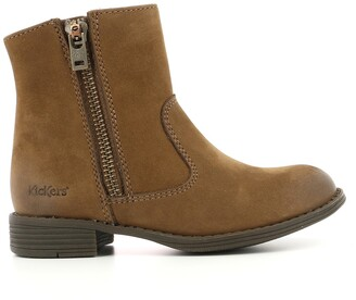 Kickers Rox Leather Ankle Boots