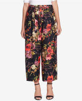 Catherine Malandrino Wide-Leg Floral-Print Pants
