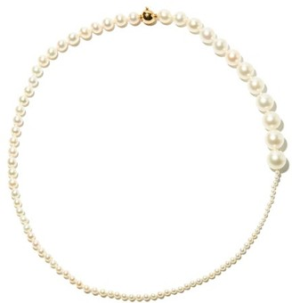 Sophie Bille Brahe Peggy Pearl & 14kt Gold Necklace - Pearl