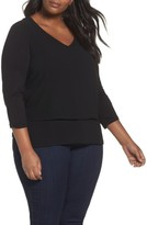 MICHAEL Michael Kors Plus Size Women's Mixed Media Top