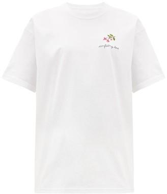 Raey X Cressida Jamieson Confiding Love T-shirt - Womens - White