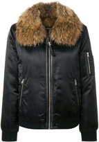 Mackage fur trimmed bomber jacket