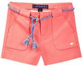 Tommy Hilfiger Textured Belted Short (Little Girls)