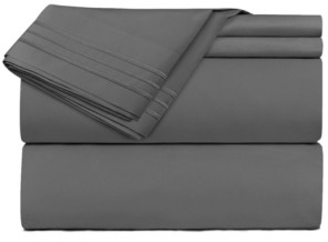 Clara Clark Premier 1800 Series 4 Piece Deep Pocket Bed Sheet Set, King Bedding