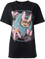 Marc Jacobs lazer cat print T-shirt - women - Cotton - M