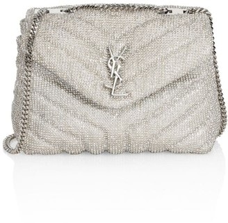 Saint Laurent Small Lou Lou Beaded Shoulder Bag