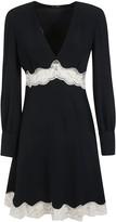 Miu Miu Laced Waist V-neck Dress