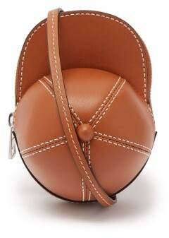 J.W.Anderson Cap Nano Leather Cross-body Bag - Tan