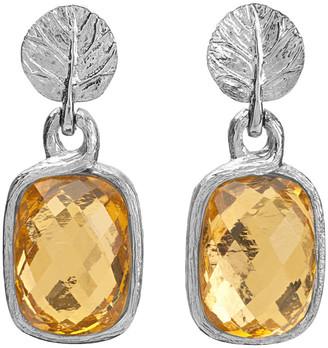 Michael Aram Botanical Silver Gold Crystal Doublet Earrings