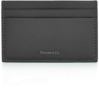 Tiffany & Co. & Co. Card case in Blue smooth calfskin leather