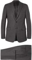 Prada Grey Slim-Fit Wool Suit
