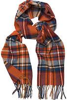 Gant Tartan Wool Scarf, Orange
