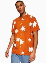 Topman FARAH Orange Short Sleeve Shirt*