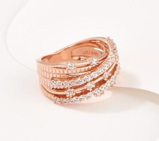 Diamonique x Lisa Mason Galaxy Bypass Ring, Sterling Silver