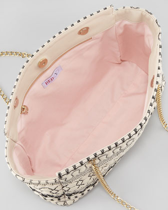 RED Valentino Quilted Faux-Leather Tote Bag, Cream