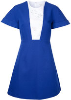 DELPOZO contrast dress - women - Cotton - 40
