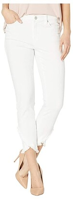 Liverpool Abby Crop Skinny Front Scallop Hem Jeans in Bright White (Bright White) Women's Jeans