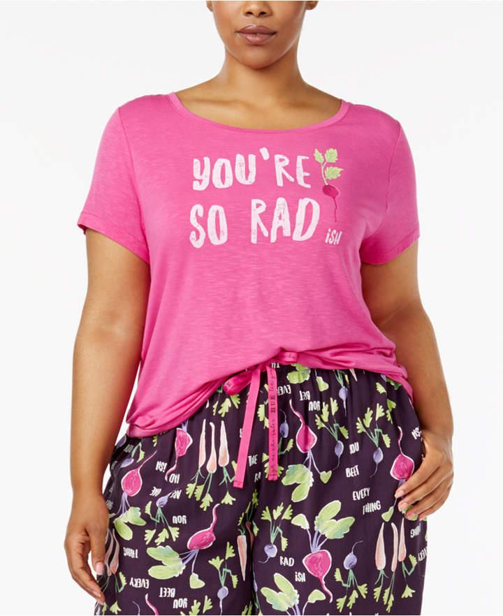 Hue Plus Size Salad Days Printed Pajama T-Shirt