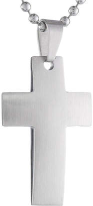 FINE JEWELRY Mens Stainless Steel Cross Pendant