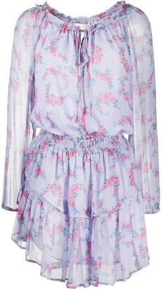LoveShackFancy Tiered Floral-Print Dress