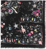 Alexander McQueen Pagan Pets shawl scarf