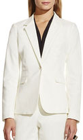 Vince Camuto Single Button Cotton Blazer