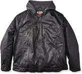 Levi's Men's Big and Tall B&t Vintage Pebbled Cow Faux Leather Classic Racer with Hood