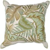 Kas Tropics Square Throw Pillow in Ivory