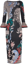 Temperley London Fitted Fortune Jacquard Dress