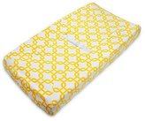American Baby Company Heavenly Soft Chenille Fitted Contoured Changing Pad Cover, Yellow Gotcha by