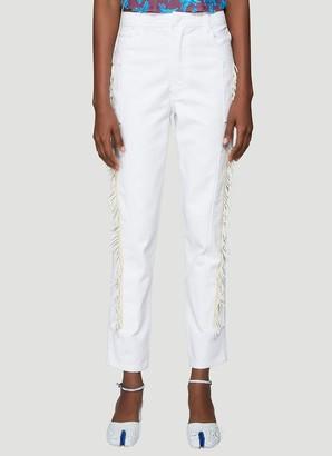 Eckhaus Latta Beaded Slim-Fit Denim Jeans
