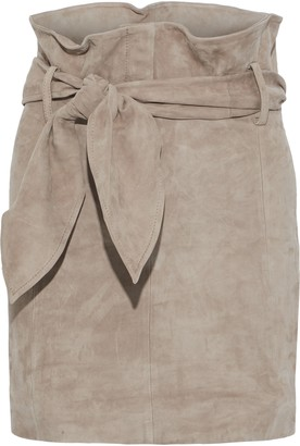 IRO Belted Suede Mini Skirt