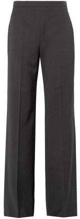 Burberry Wyhill Grain De Poudre Wool Flared Pants