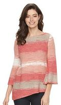 Dana Buchman Petite Striped Tape-Yarn Sweater