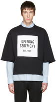 Opening Ceremony Black Logo Cut-Off T-Shirt